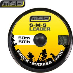 Снаг лидер плетеный MAD S-M-S LEADER/ 70lb / 50m / GREEN
