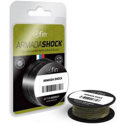 Снаг-Шок лидер плетеный FIN ARMADA SHOCK LEADER  / 0.30mm / 70lb / 20m - Brown